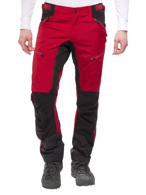 Lundhags Makke - Pantalon long Homme - rouge/noir